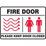 "Accuform MEXT447XL, Sign ""Fire Door Please Keep Door Closed"""