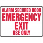 "Accuform MEXT503VS, Sign ""Alarm Secured Door Emergency Exit Use Only"""