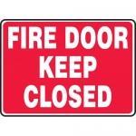 "Accuform MEXT507XL, 7″ x 10″ Aluma-Lite Sign: ""Fire Door Keep Closed"""