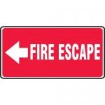 "Accuform MEXT508XL, Aluma-Lite Sign ""Fire Escape"" & Left Arrow Symbol"