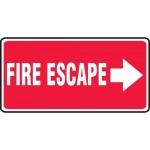 """Accuform MEXT509XL, Aluma-Lite Sign """"Fire Escape"""" & Right Arrow Symbol"""