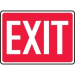 """Accuform MEXT518XF, 10″ x 14″ Dura-Fiberglass Safety Sign: """"Exit"""""""