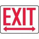 """Accuform MEXT519VA, Aluminum Sign """"Exit"""" & Two Way Arrow Symbol"""