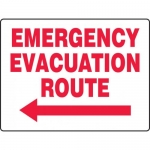 """Accuform MEXT520XT, BIGSigns Sign """"Emergency Evacuation Route"""""""