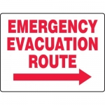 """Accuform MEXT524VP, BIGSigns Safety Sign """"Emergency Evacuation Route"""""""