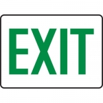 """Accuform MEXT526XT, Dura-Plastic Safety Sign with Legend """"Exit"""""""