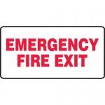 """Accuform MEXT531VA, 7″ x 14″ Aluminum Sign: """"Emergency Fire Exit"""""""