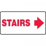 "Accuform MEXT532VA, Aluminum Sign ""Stairs"" & Right Arrow Symbol"