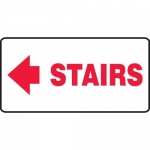 "Accuform MEXT534VP, Plastic Sign ""Stairs"" & Left Arrow Symbol"