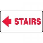"Accuform MEXT534XF, Dura-Fiberglass Sign ""Stairs"" & Left Arrow Symbol"