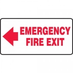 "Accuform MEXT535VP, Sign ""Emergency Fire Exit"" & Left Arrow Symbol"