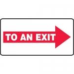 """Accuform MEXT537VA, Aluminum Sign """"To an Exit"""" & Right Arrow Symbol"""