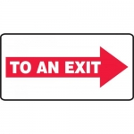 """Accuform MEXT537XF, Sign """"To an Exit"""" & Right Arrow Symbol"""