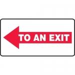 "Accuform MEXT540XL, Aluma-Lite Sign ""To an Exit"" & Left Arrow Symbol"