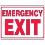 "Accuform MEXT548VP, 18″ x 24″ Plastic Sign: ""Emergency Exit"""