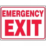 "Accuform MEXT548VS, 18″ x 24″ Adhesive Vinyl Sign: ""Emergency Exit"""