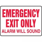 """Accuform MEXT551XF, Sign """"Emergency Exit Only Alarm Will Sound"""""""