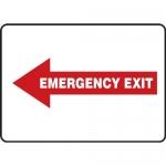 "Accuform MEXT558VA, Sign ""Emergency Exit"" & Left Red Arrow Symbol"