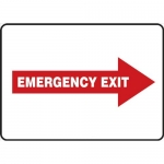 "Accuform MEXT559VA, Sign ""Emergency Exit"" & Right Red Arrow Symbol"