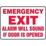 """Accuform MEXT565VA, Sign """"Emergency Exit Alarm Will Sound if Door …"""""""