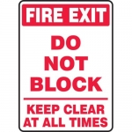 "Accuform MEXT572VA, Sign ""Fire Exit Do Not Block Keep Clear at All…"""