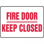 """Accuform MEXT578XF, Safety Sign """"Fire Door Keep Closed"""""""