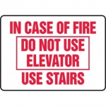"Accuform MEXT580VA, Sign ""In Case of Fire Do Not Use Elevator Use…"""