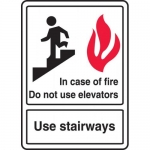 "Accuform MEXT581VA, Sign ""In Case of Fire Do Not Use Elevators Use…"""