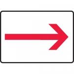 """Accuform MEXT583VA, 10″ x 14″ Aluminum Sign: """"Red Arrow Symbol"""""""
