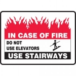 "Accuform MEXT589VA, Sign ""In Case of Fire Do Not Use Elevators Use…"""