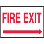 """Accuform MEXT594VA, Safety Sign """"Fire Exit"""" & Right Arrow Symbol"""
