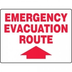 """Accuform MEXT596VP, BIGSigns Plastic Sign """"Emergency Evacuation Route"""""""