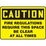 """Accuform MEXT604XP, Sign """"Fire Regulations Require This Space Be …"""""""