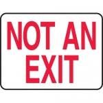 "Accuform MEXT910XL, Aluma-Lite Sign with Legend ""Not an Exit"""