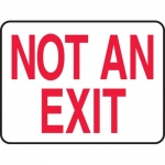 """Accuform MEXT911VP, 10″ x 14″ Plastic Sign with Legend: """"Not an Exit"""""""