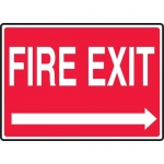 "Accuform MEXT926VS, Adhesive Vinyl Sign ""Fire Exit"" & Right Arrow"