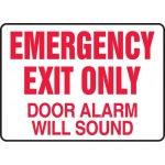 "Accuform MEXT932VS, Sign ""Emergency Exit Only – Door Alarm Will Sound"""
