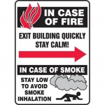 "Accuform MFEX501VA, Sign ""In Case of Fire – Exit Building Quickly…"""