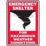 """Accuform MFEX502VA, Aluminum Sign """"For Hazardous Weather Conditions"""""""