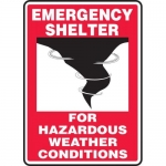"""Accuform MFEX502VP, Plastic Sign """"For Hazardous Weather Conditions"""""""