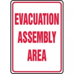 "Accuform MFEX504VS, Adhesive Vinyl Sign ""Evacuation Assembly Area"""