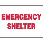 """Accuform MFEX511XT, 18″ x 24″ Dura-Plastic Sign: """"Emergency Shelter"""""""