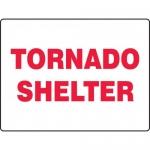 "Accuform MFEX514VP, 18″ x 24″ Plastic Sign: ""Tornado Shelter"""