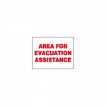 """Accuform MFEX520XT, Dura-Plastic Sign """"Area for Evacuation Assistance"""""""