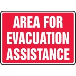 "Accuform MFEX526VS, Vinyl Sign ""Area for Evacuation Assistance"""