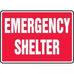 """Accuform MFEX527VP, 10″ x 14″ Plastic Sign: """"Emergency Shelter"""""""
