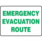 "Accuform MFEX529VS, Adhesive Vinyl Sign ""Emergency Evacuation Route"""