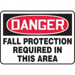 """Accuform MFPR008VS, Vinyl Sign """"Fall Protection Required in This Area"""""""