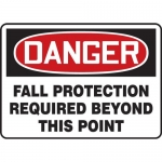 """Accuform MFPR162XP, Sign """"Fall Protection Required Beyond This Point"""""""