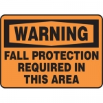 """Accuform MFPR301VS, Sign """"Warning Fall Protection Required in…"""""""
